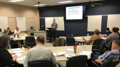 FLETA Program Manager CJ Ross instructs in the Assessor Training Program