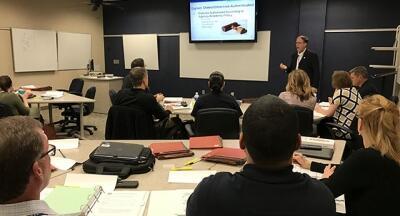 FLETA Program Manager C.J. Ross instructs in the Assessor Training Program