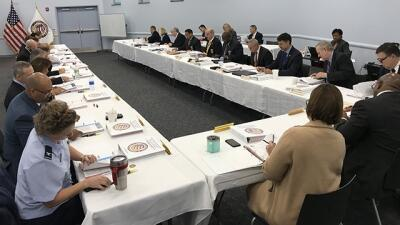 Members of the FLETA Board conduct business on Tuesday, November 6, 2018
