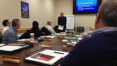 Dr. Jack Enter provides leadership training to the FLETA Board at a special meeting January 27-29, 2015.