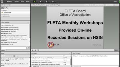 FLETA Monthly Workshop screen online