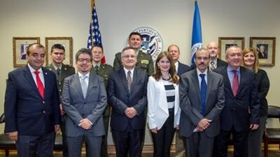 Colombian Officials visited the FLETC and received briefings from FLETA