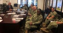 FLETA Executive Director Joseph Collins meets with members of the Navy staff